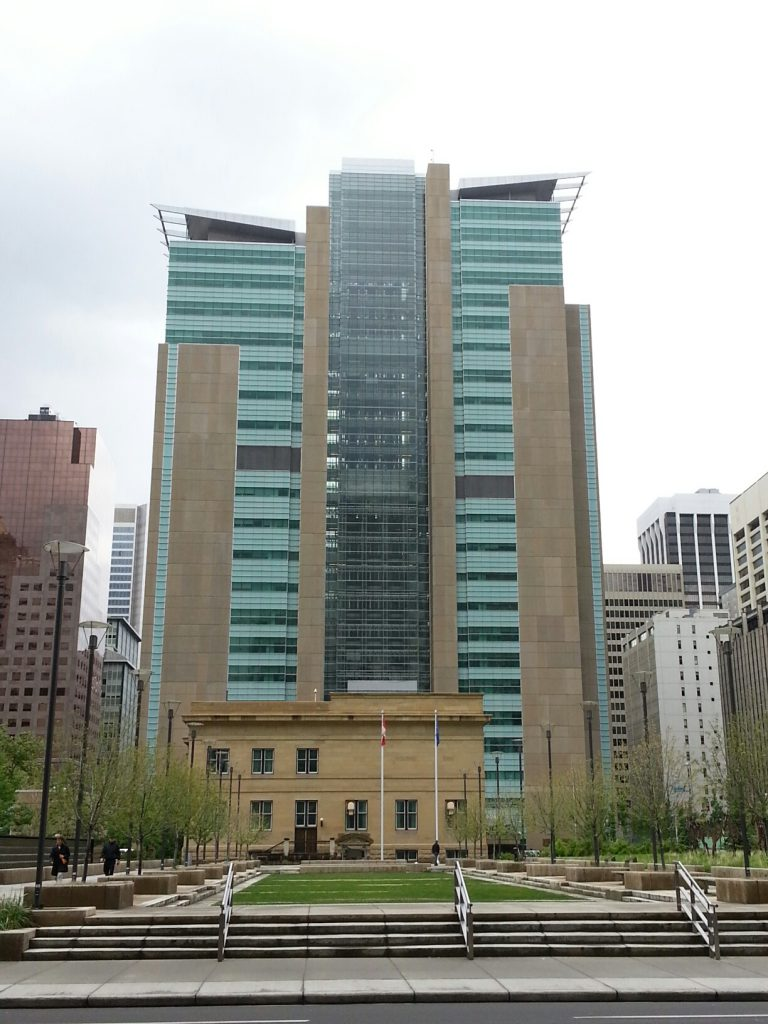 Court building in downtown Calgary where we fight your traffic ticket